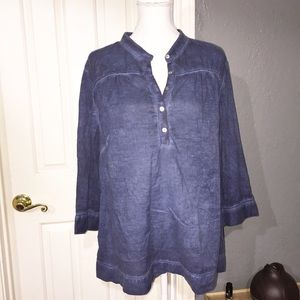 ColdWater Creek Chambray burnout lightweight tunic